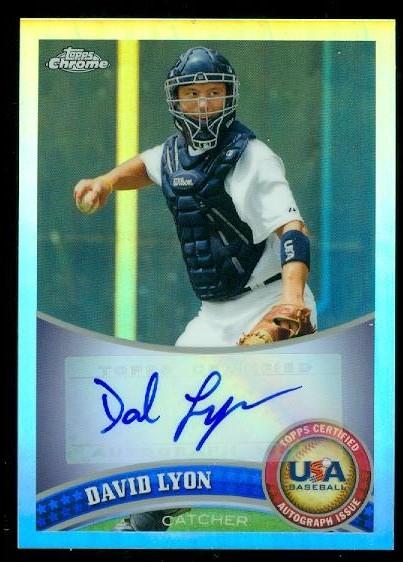 2011 Topps Chrome USA Baseball Autographs Refractors #USABB3 Josh Elander