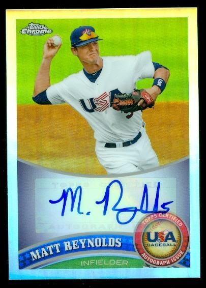 2011 Topps Chrome USA Baseball Autographs Refractors #USABB18 Matt Reynolds
