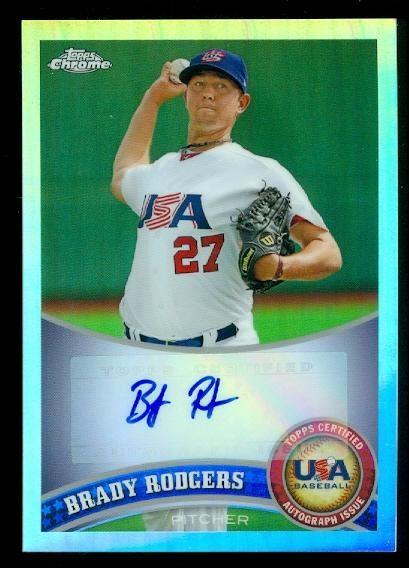 2011 Topps Chrome USA Baseball Autographs Refractors #USABB19 Brady Rodgers