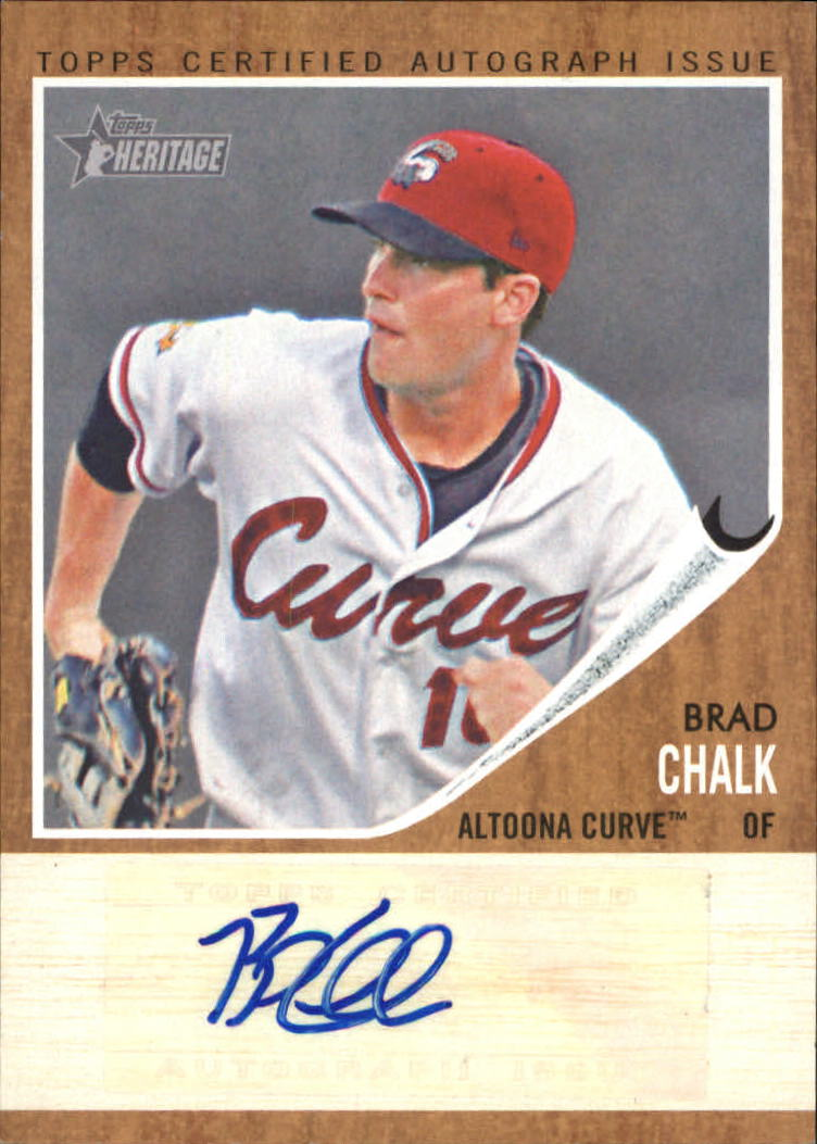 2011 Topps Heritage Minors Real One Autographs #BC Brad Chalk