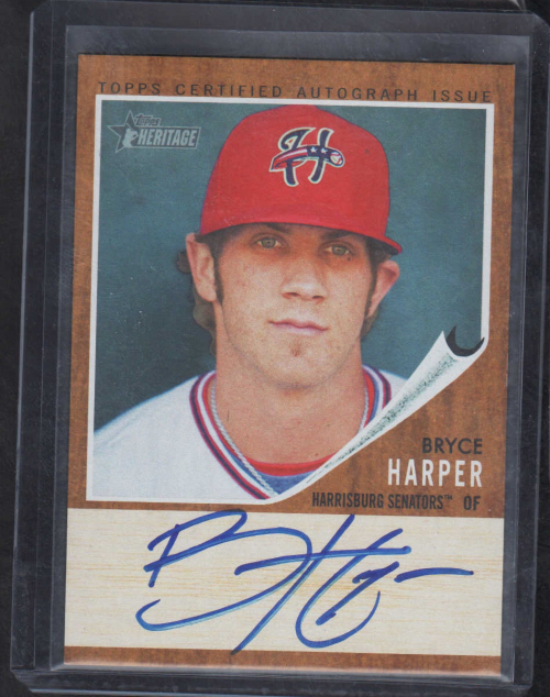 2011 Topps Heritage Minors Real One Autographs #BH Bryce Harper
