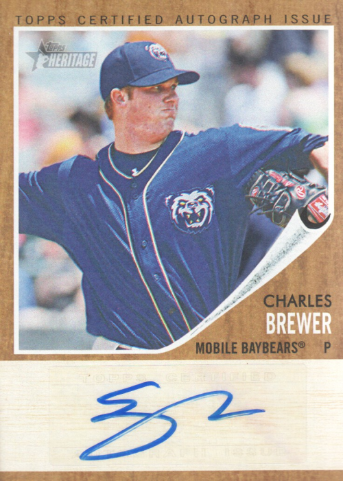 2011 Topps Heritage Minors Real One Autographs #CB Charles Brewer