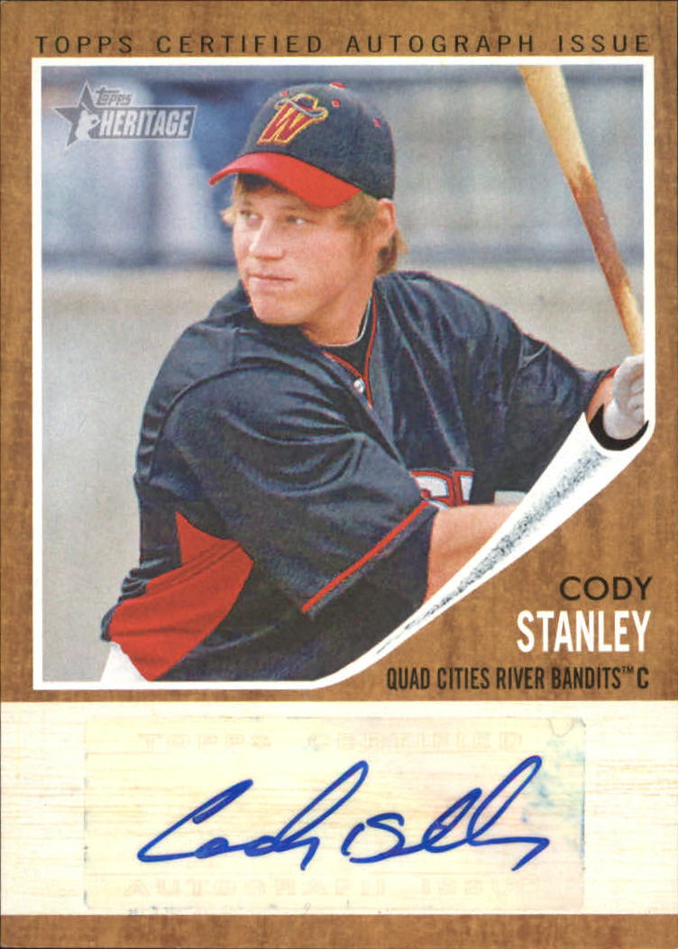 2011 Topps Heritage Minors Real One Autographs #CS Cody Stanley