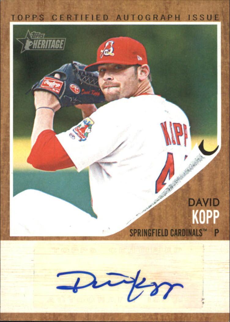 2011 Topps Heritage Minors Real One Autographs #DK David Kopp