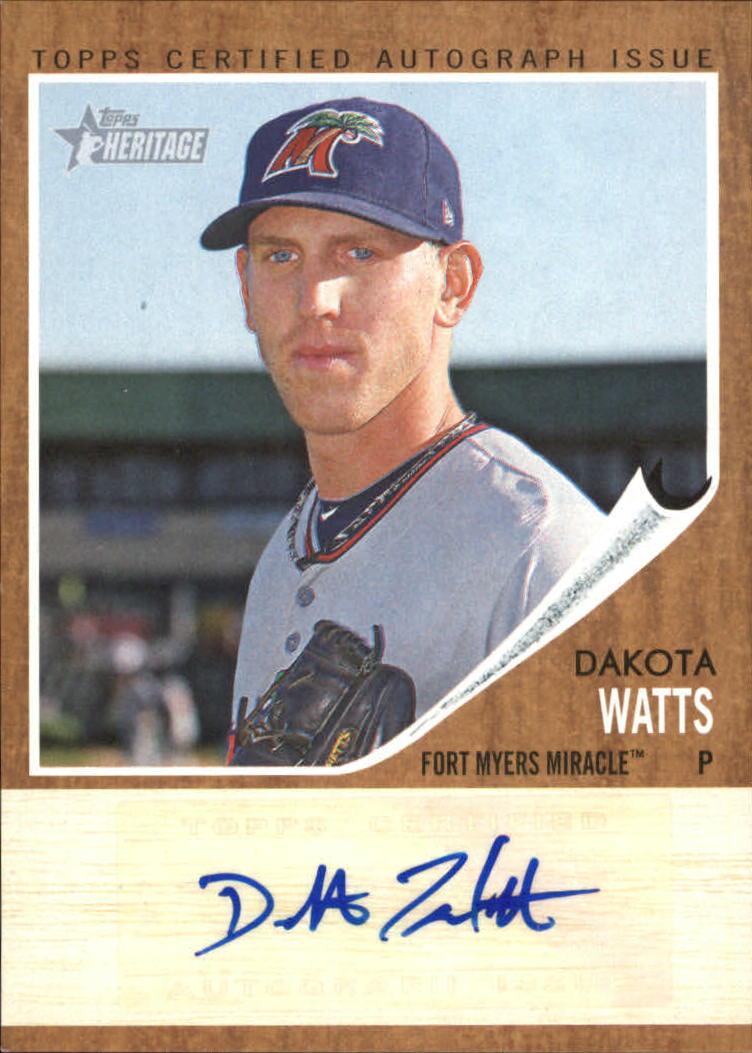 2011 Topps Heritage Minors Real One Autographs #DW Dakota Watts