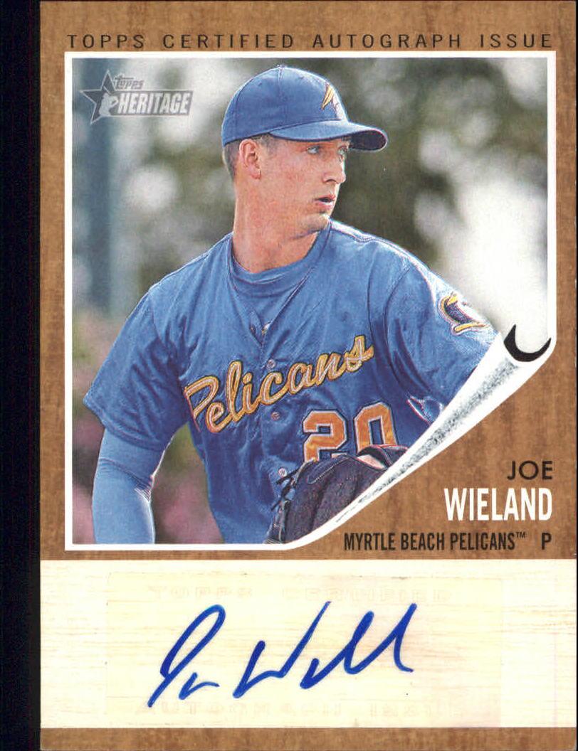 2011 Topps Heritage Minors Real One Autographs #JW Joe Wieland