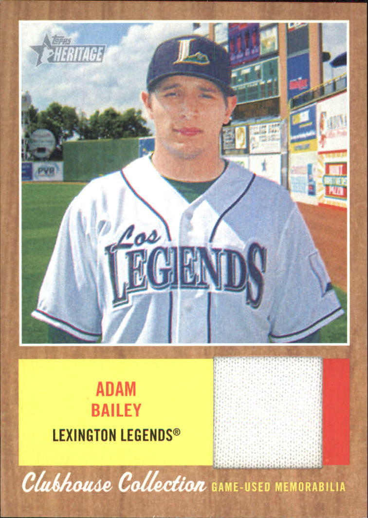 2011 Topps Heritage Minors Clubhouse Collection Relics #AB Adam Bailey
