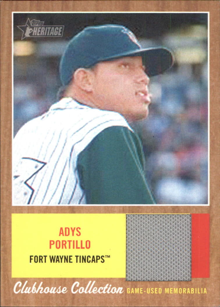 2011 Topps Heritage Minors Clubhouse Collection Relics #AP Adys Portillo