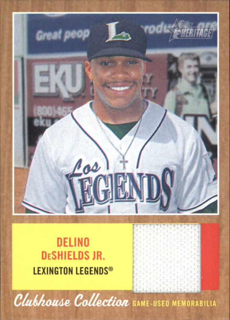 2011 Topps Heritage Minors Clubhouse Collection Relics #DDS Delino DeShields Jr.