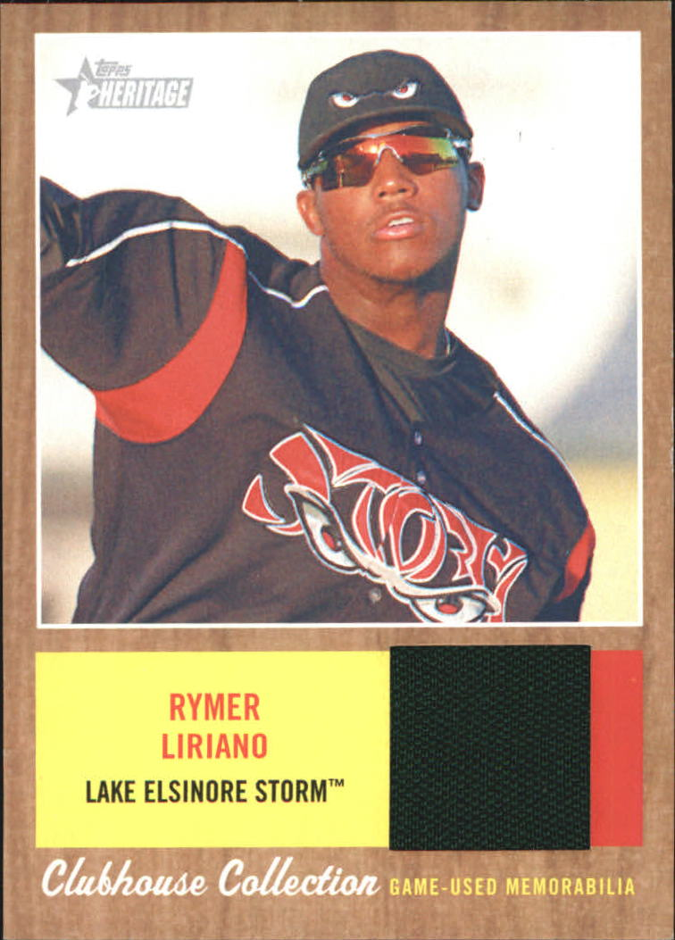 2011 Topps Heritage Minors Clubhouse Collection Relics #RL Rymer Liriano