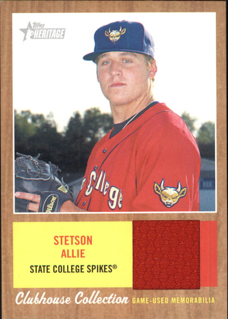 2011 Topps Heritage Minors Clubhouse Collection Relics #SA Stetson Allie