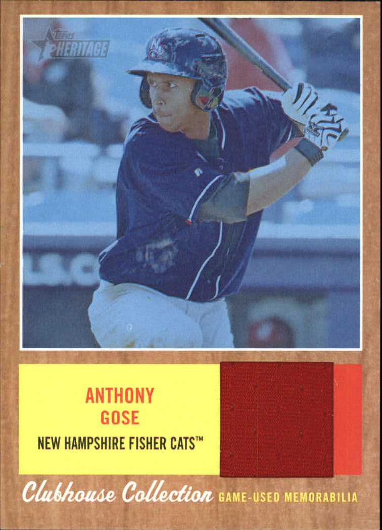 2011 Topps Heritage Minors Clubhouse Collection Relics Blue Tint #AG Anthony Gose