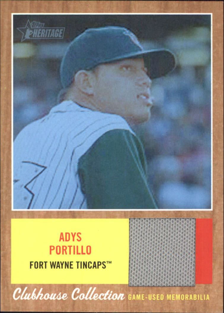 2011 Topps Heritage Minors Clubhouse Collection Relics Blue Tint #AP Adys Portillo