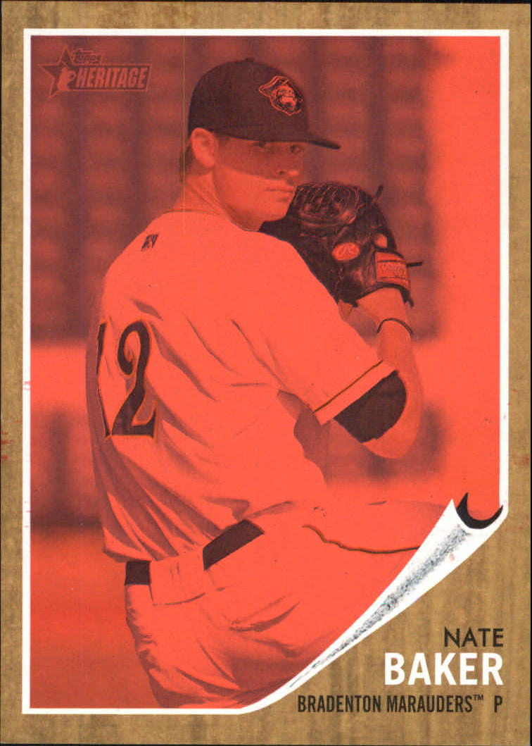 2011 Topps Heritage Minors Red Tint #60 Nate Baker