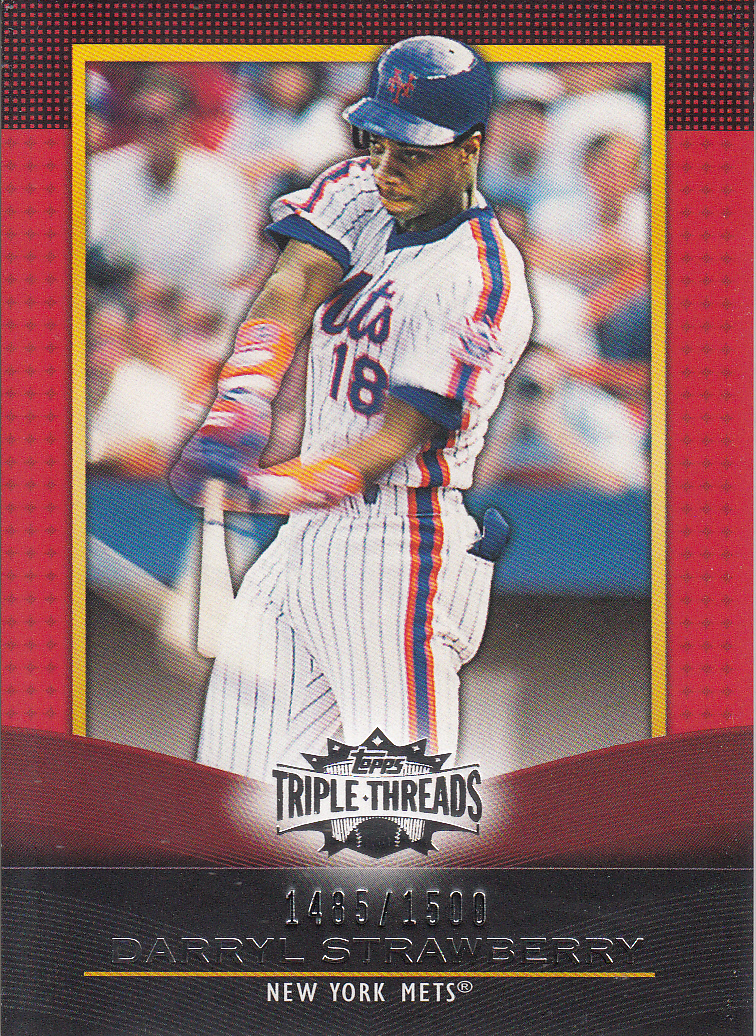 2011 Topps Triple Threads #64 Darryl Strawberry