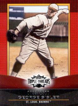 2011 Topps Triple Threads #69 George Sisler