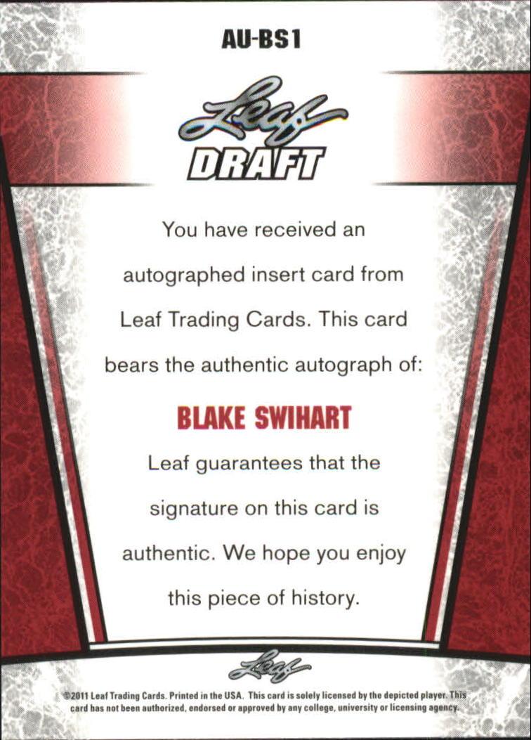 2011 Leaf Metal Draft #BS1 Blake Swihart back image