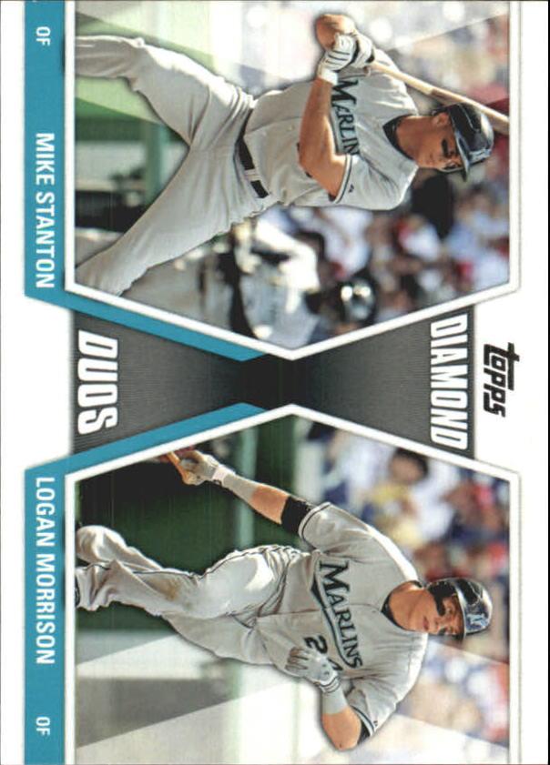 2011 Topps Update Diamond Duos #DD13 Mike Stanton/Logan Morrison