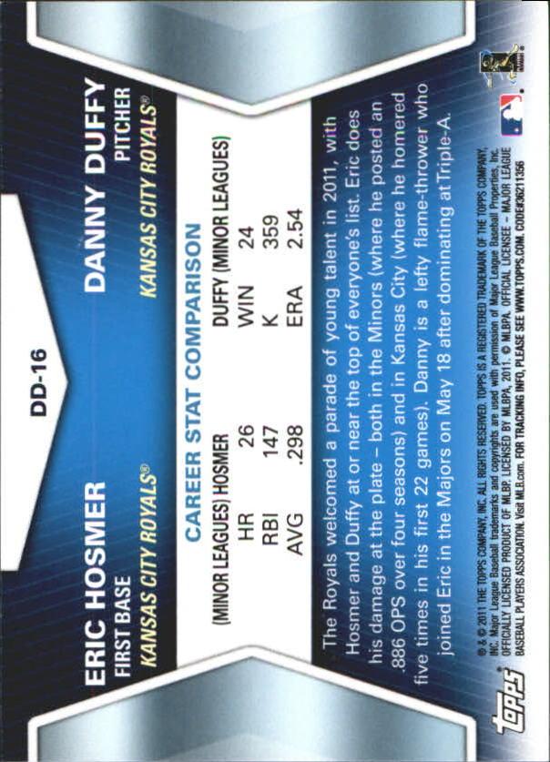 2011 Topps Update Diamond Duos #DD16 Eric Hosmer/Danny Duffy back image