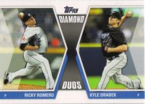 2011 Topps Update Diamond Duos #DD22 Ricky Romero/Kyle Drabek