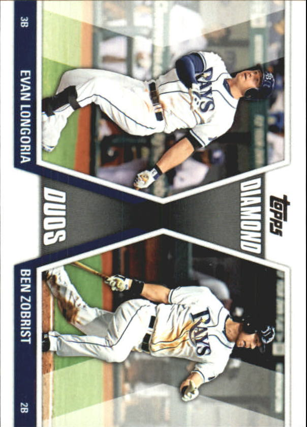 2011 Topps Update Diamond Duos #DD24 Evan Longoria/Ben Zobrist