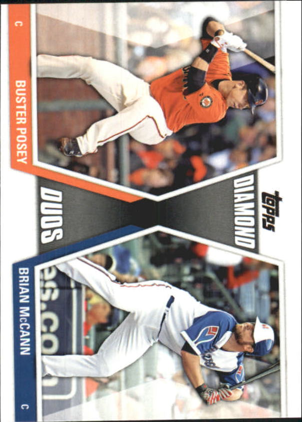 2011 Topps Update Diamond Duos #DD26 Buster Posey/Brian McCann