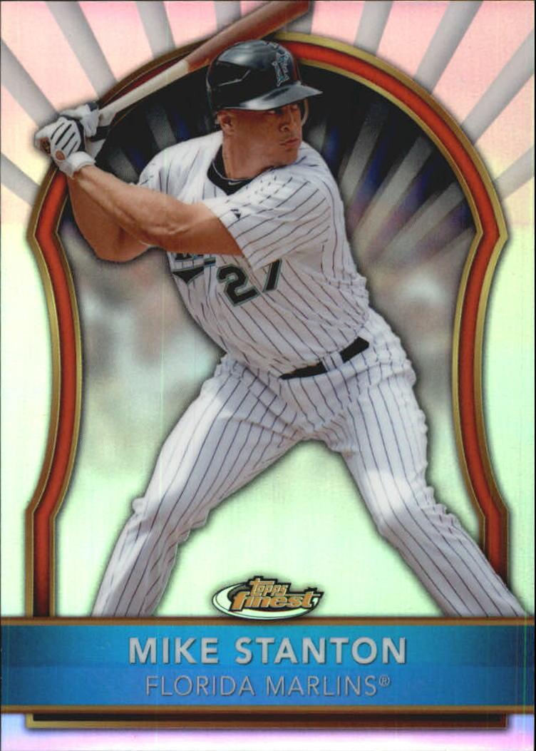 2011 Finest Refractors #44 Mike Stanton