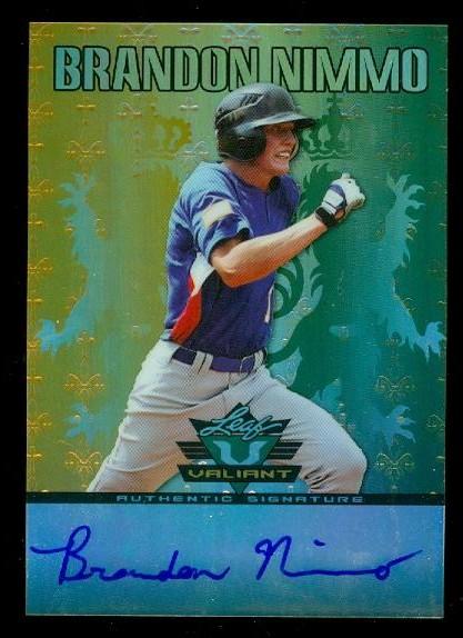 2011 Leaf Valiant Draft #BN1 Brandon Nimmo