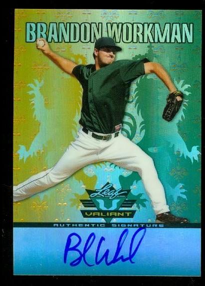 2011 Leaf Valiant Draft #BW1 Brandon Workman