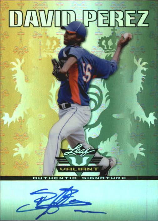 2011 Leaf Valiant Draft #DP1 David Perez