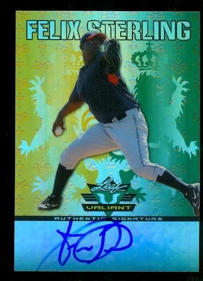 2011 Leaf Valiant Draft #FS1 Felix Sterling