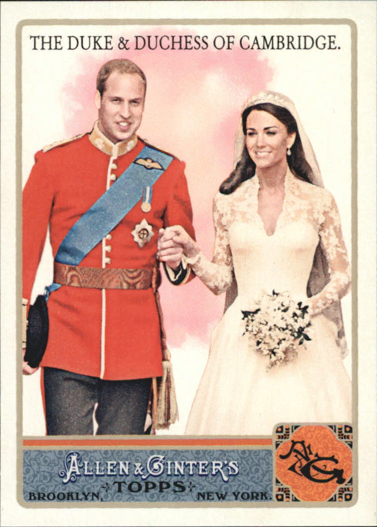 2011 Topps Allen and Ginter Glossy Rookie Exclusive #AGS9 Prince William/Kate Middleton