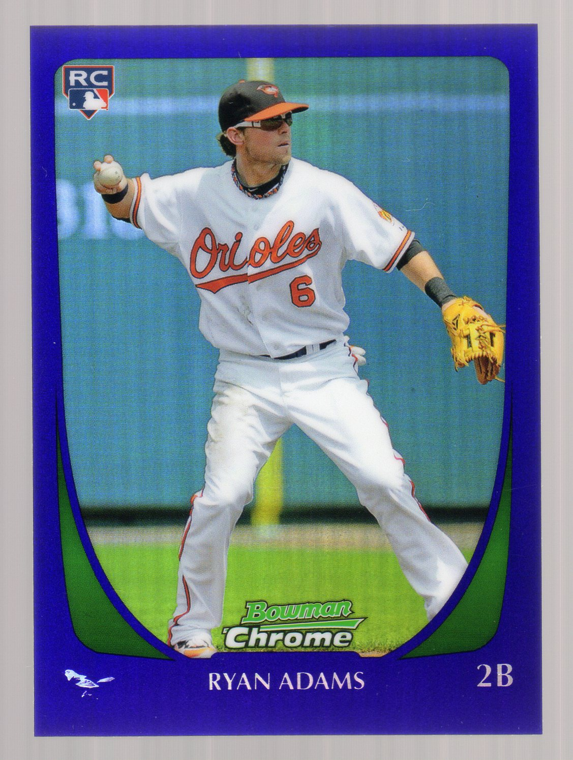 2011 Bowman Chrome Draft Purple Refractors #2 Ryan Adams