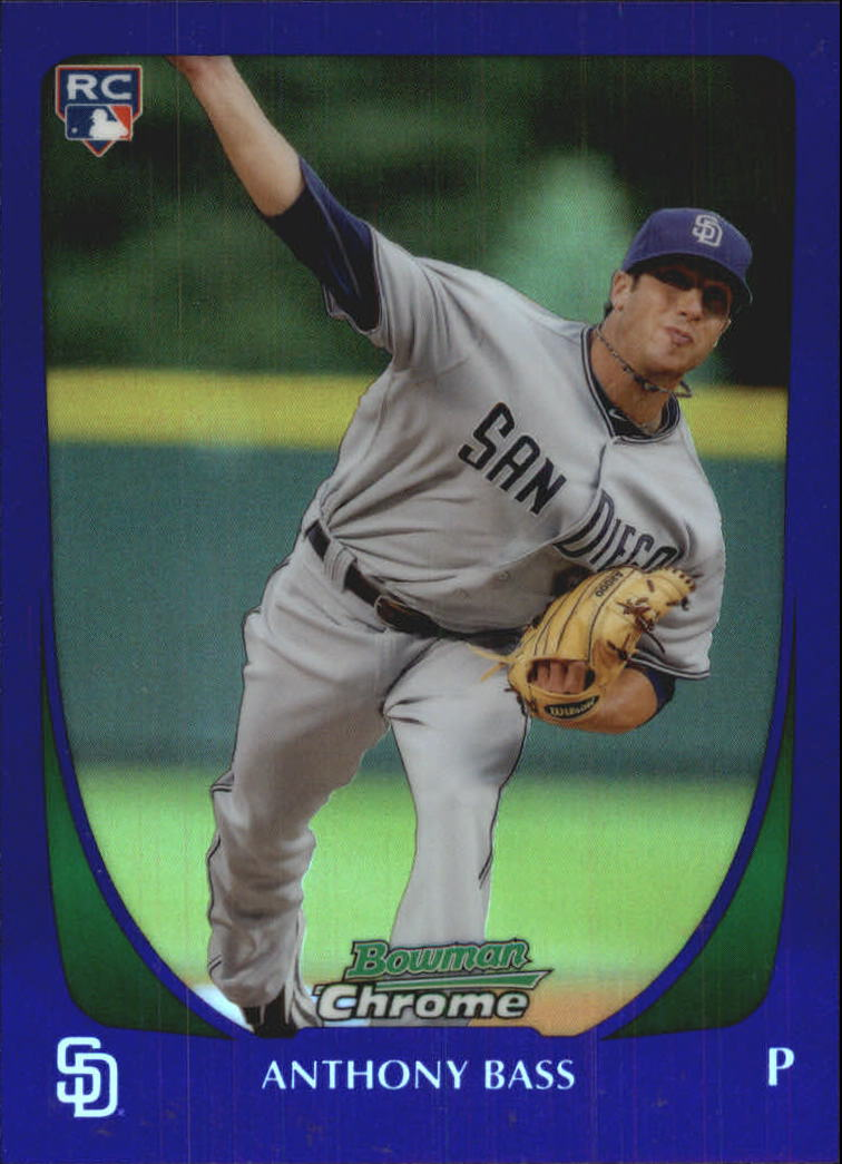 2011 Bowman Chrome Draft Purple Refractors #4 Anthony Bass
