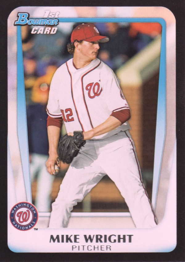 2011 Bowman Draft Prospects #BDPP11 Mike Wright UER/Drafted by Orioles; pictured as National