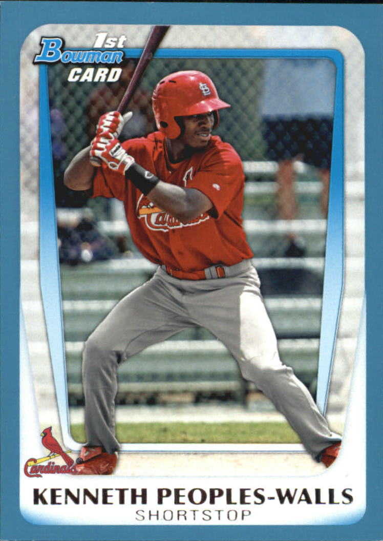 2011 Bowman Draft Prospects Blue #BDPP7 Kenneth Peoples-Walls