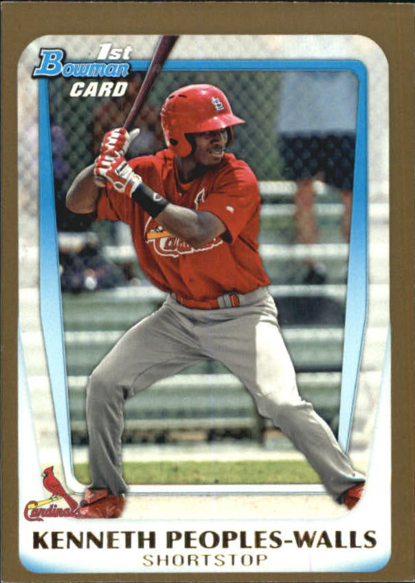 2011 Bowman Draft Prospects Gold #BDPP7 Kenneth Peoples-Walls