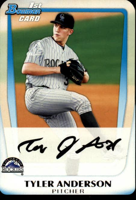 2011 Bowman Chrome Draft Prospects #BDPP3 Tyler Anderson