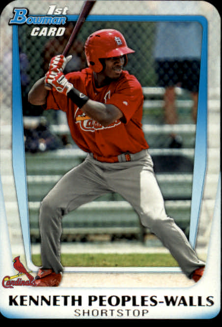 2011 Bowman Chrome Draft Prospects #BDPP7 Kenneth Peoples-Walls