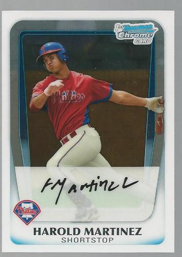 2011 Bowman Chrome Draft Prospects #BDPP19 Harold Martinez
