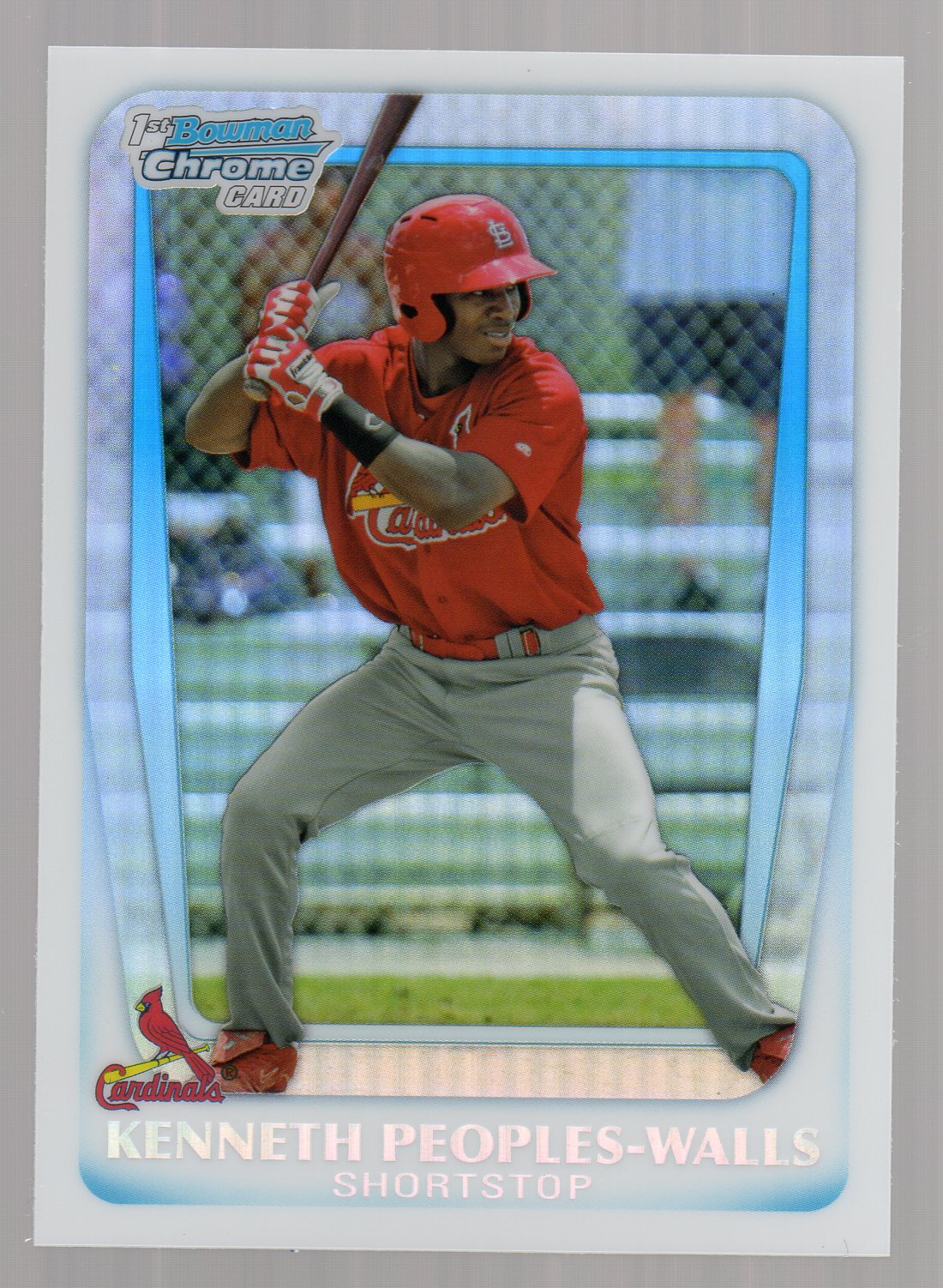 2011 Bowman Chrome Draft Prospects Refractors #BDPP7 Kenneth Peoples-Walls