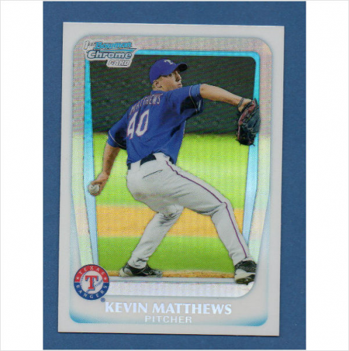 2011 Bowman Chrome Draft Prospects Refractors #BDPP57 Kevin Matthews