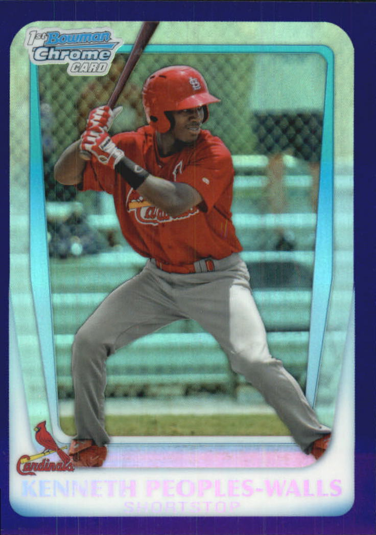 2011 Bowman Chrome Draft Prospects Purple Refractors #BDPP7 Kenneth Peoples-Walls