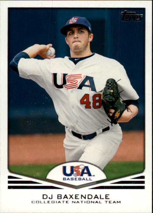 2011 USA Baseball #USA2 D.J. Baxendale