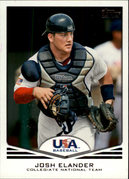 2011 USA Baseball #USA3 Josh Elander