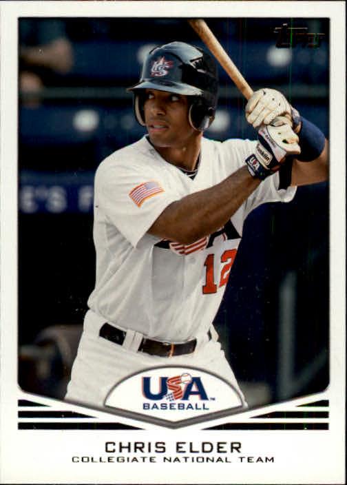 2011 USA Baseball #USA4 Chris Elder