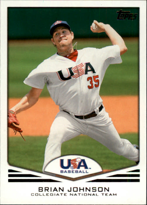 2011 USA Baseball #USA8 Brian Johnson