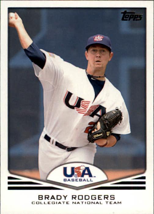 2011 USA Baseball #USA19 Brady Rodgers