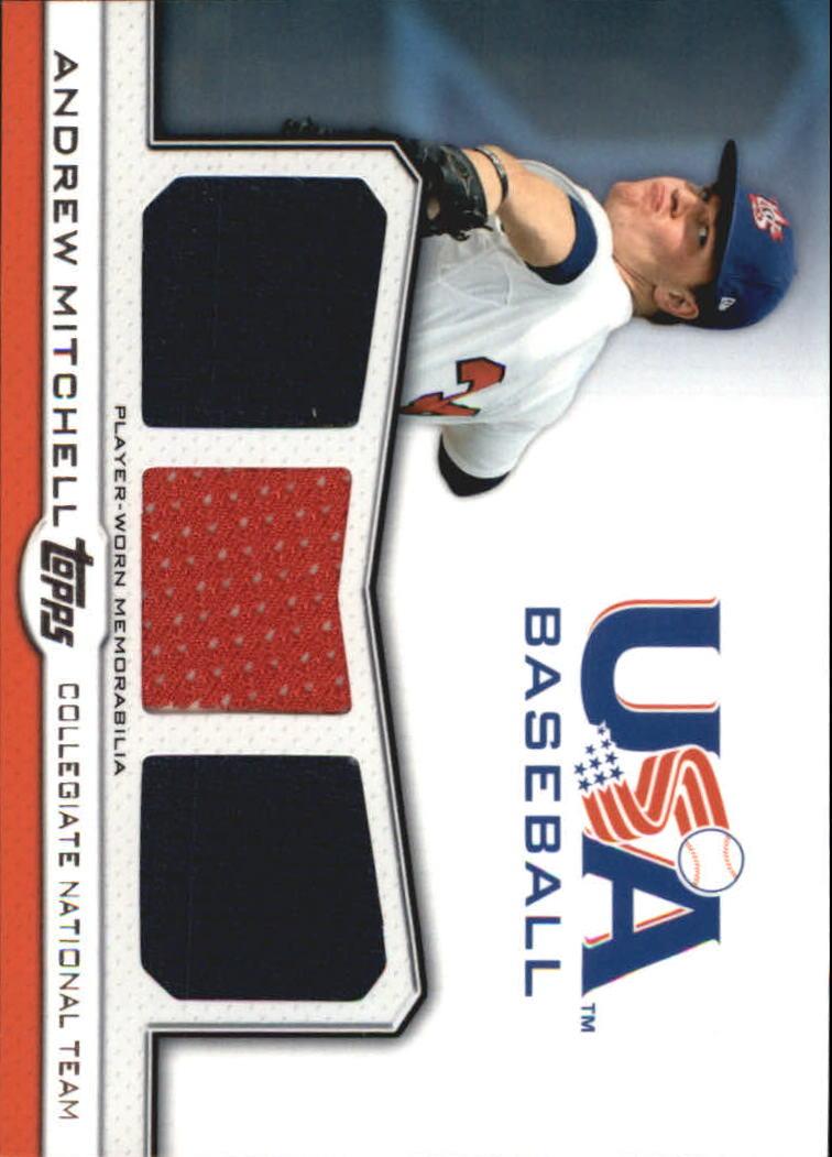 2011 USA Baseball Triple Jerseys #AM Andrew Mitchell