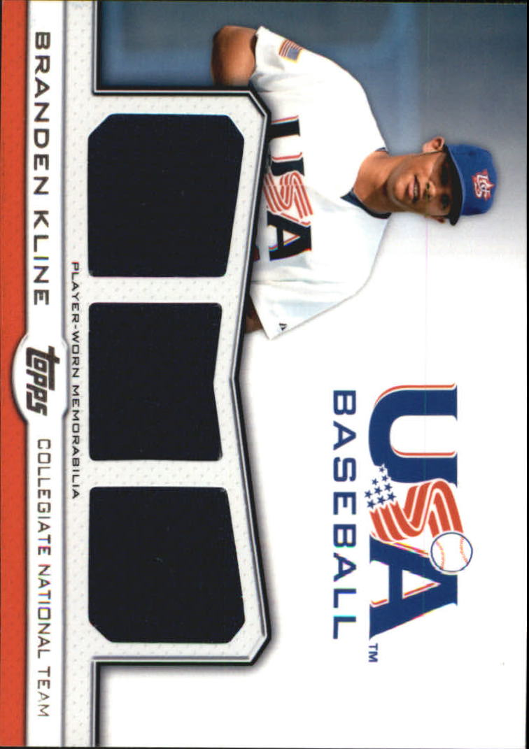 2011 USA Baseball Triple Jerseys #BK Branden Kline